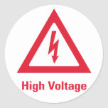 Danger High Voltage Symbol Round Sticker
