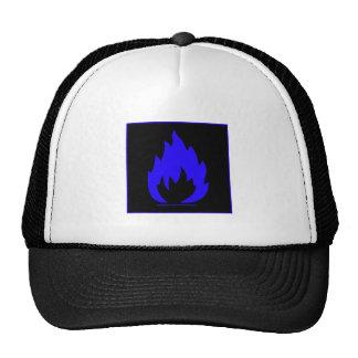 Danger Highly Flammable Warning Sign Chemical Burn Hat