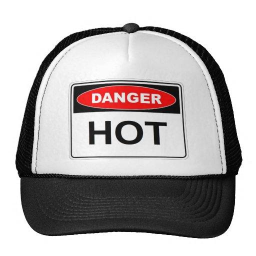 Danger Hot Trucker Hats