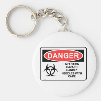 DANGER INFECTION HAZARD KEY RING