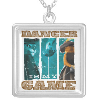 Danger Is My Game Silver Plated Necklace