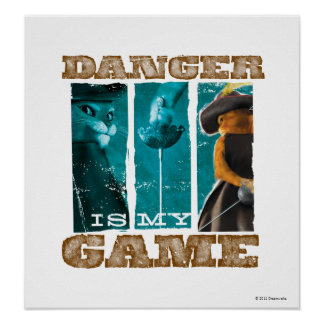 Danger Is My Game (teal) Poster
