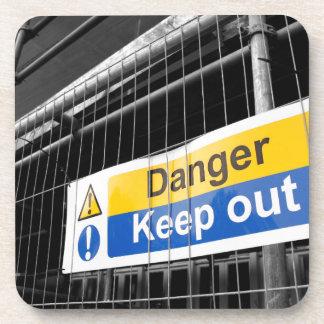 Danger Keep Out sign Coaster