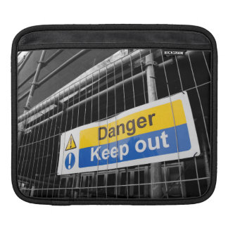 Danger Keep Out sign iPad sleeve