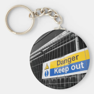 Danger Keep Out sign Key Ring