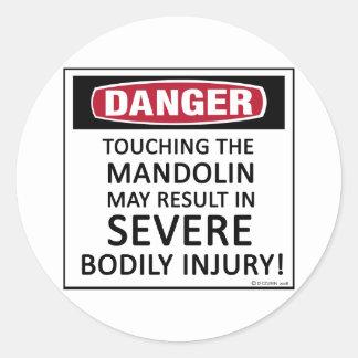 Danger Mandolin Classic Round Sticker