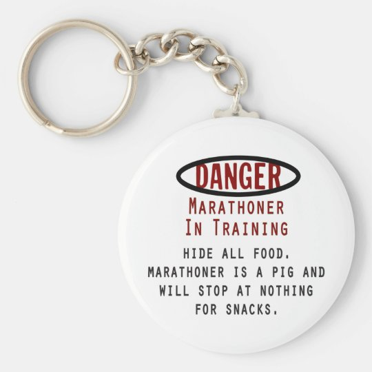 Danger Marathoner Basic Round Button Key Ring