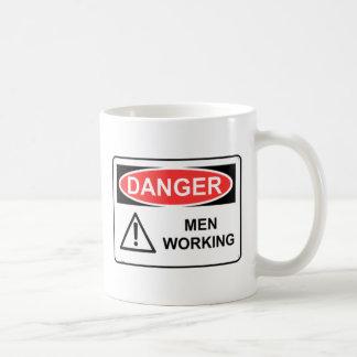 DANGER MEN WORKING MUGS