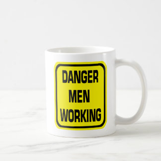 Danger Men Working Mug