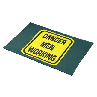 Danger Men Working Placemat