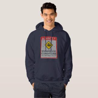 Danger Men's Basic Hooded Sweatshirt