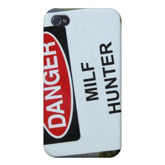Danger Milf Hunter Sign iPhone 4 Case