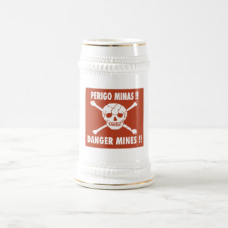 Danger Mines Sign, Angola Beer Steins