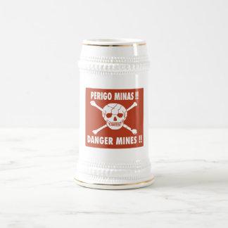 Danger Mines Sign, Angola Mugs