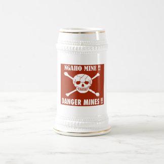 Danger Mines Sign, Burundi Beer Steins
