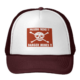 Danger Mines Sign, Burundi Cap