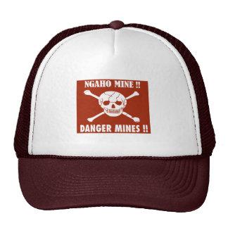 Danger Mines Sign, Burundi Trucker Hats