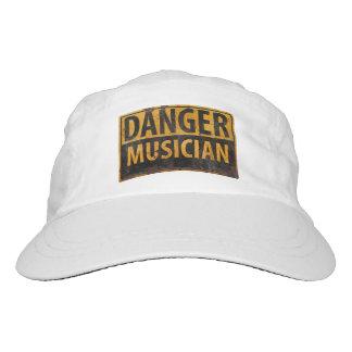 DANGER MUSICIAN Warning Caution Metal Rust Sign Hat