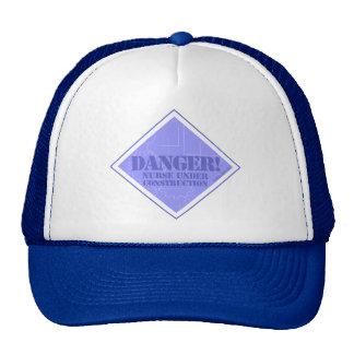 Danger! Nurse under Construction Trucker Hats