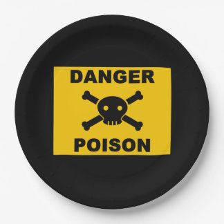 Danger of death 9 inch paper plate