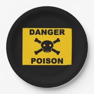 Danger of death paper plate