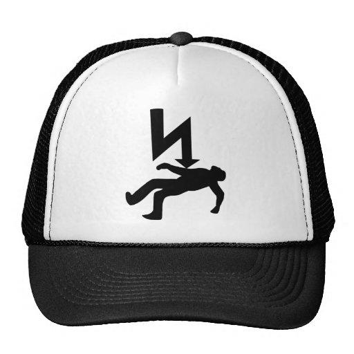 Danger of Electric Shock Symbol Hats