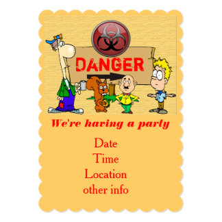 Danger - party invitation