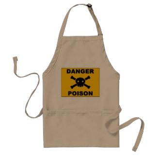 Danger poison standard apron