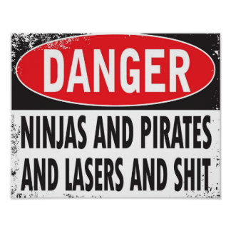 DANGER! Poster (small)
