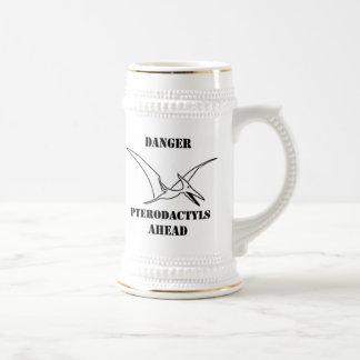 Danger Pterodactyls Ahead Stein Mugs