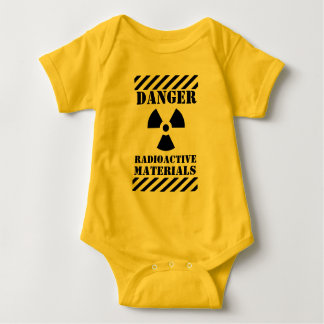 Danger Radioactive Materials Funny Halloween Baby Bodysuit