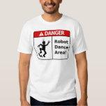 DANGER Robot Dance Area! (Men's T-Shirt) Tshirts