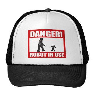 Danger! Robot in Use Hat