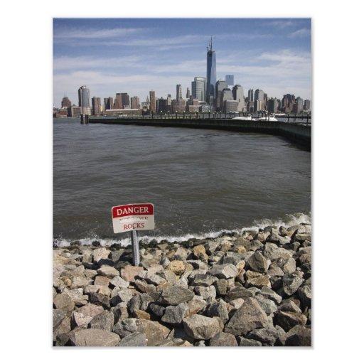 Danger Rocks New York skyline Photographic Print
