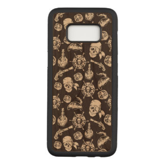 Danger Samsung Galaxy S8 Slim Cherry Wood Case