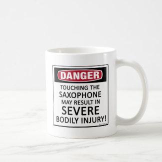 Danger Saxophone Coffee Mug