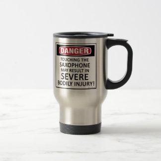 Danger Saxophone Travel Mug