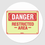 Danger Sign Design! Unique cool design! Round Sticker