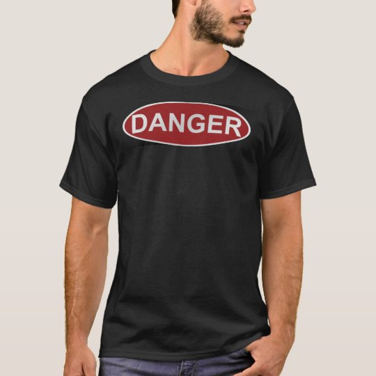 danger sign for dark shirts