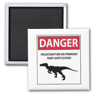 Danger Sign (Raptors) Magnet