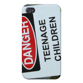 Danger Sign Teenage Children iPhone 4 Cover