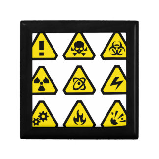 Danger signs gift box