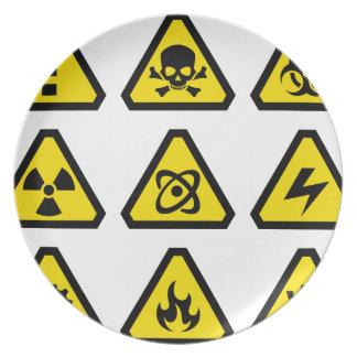 Danger signs plate
