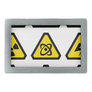 Danger signs rectangular belt buckle