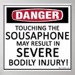 Danger Sousaphone Poster