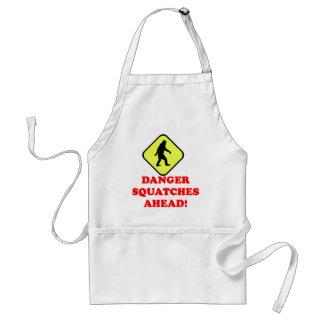 Danger squatches ahead aprons