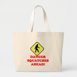 Danger squatches ahead jumbo tote bag