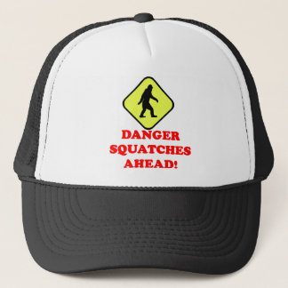 Danger squatches ahead trucker hat