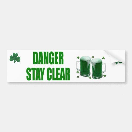 Danger Stay Clear! Sticker Bumper Stickers