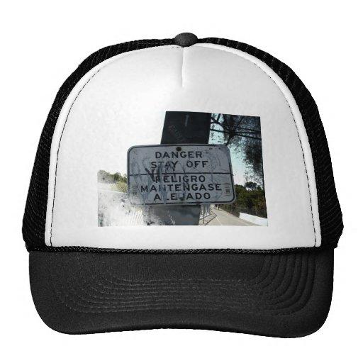 Danger Stay Off Sign Hat